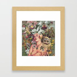Cat Lady Framed Art Print