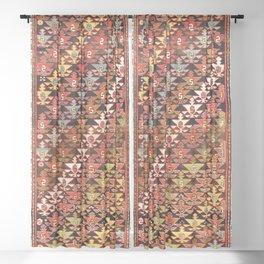 Shahsavan Moghan Southeast Caucasus Rug Print Sheer Curtain