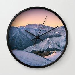 Winter Mountain View Wall Clock