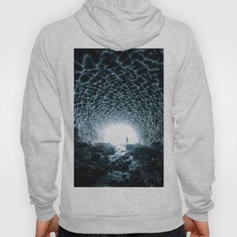 Glacial Ice Cave in the Mountains - Landscape Photography Hoody