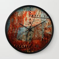 leather Wall Clocks featuring Synthetic Leather by Fernando Vieira
