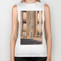 buddhism Biker Tanks featuring Buddhism ancient place in Sanchi by Four Hands Art