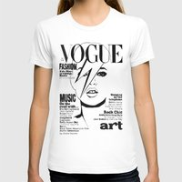 kate moss T-shirts featuring Kate Moss / David Bowie by Linda Nicolaysen