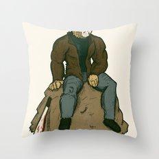 Jason Vorhees - A quiet moment of contemplation Throw Pillow