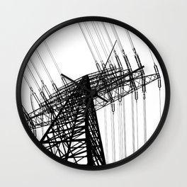 Power Lines Wall Clock