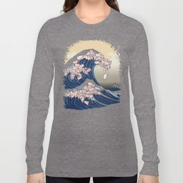 The Great Wave of Pigs Long Sleeve T-shirt