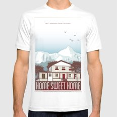 Home Sweet Home MEDIUM White Mens Fitted Tee