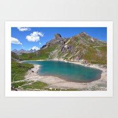 Alpine Blue Art Print