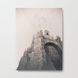 El Convento de San Esteban (B+W) Metal Print