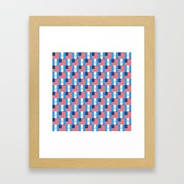 Mix of flag : Usa and Guatemala Framed Art Print