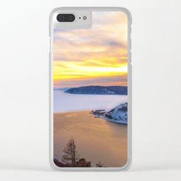 Lake Baikal and Angara River Clear iPhone Case
