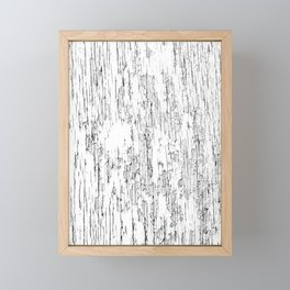 Wood texture old and cracked and peeling paint - BBG230 Framed Mini Art Print