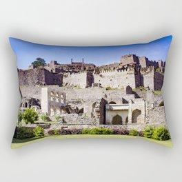 Looking up at Golconda Fort in Hyderabad, India Rectangular Pillow