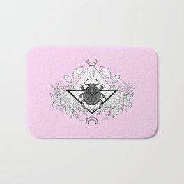 Scarab Queen // Pink Bath Mat