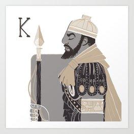 King H. Art Print