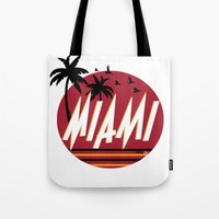 miami Tote Bags featuring Miami by FRSHCo.