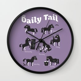 The Daily Tail Horse Wall Clock