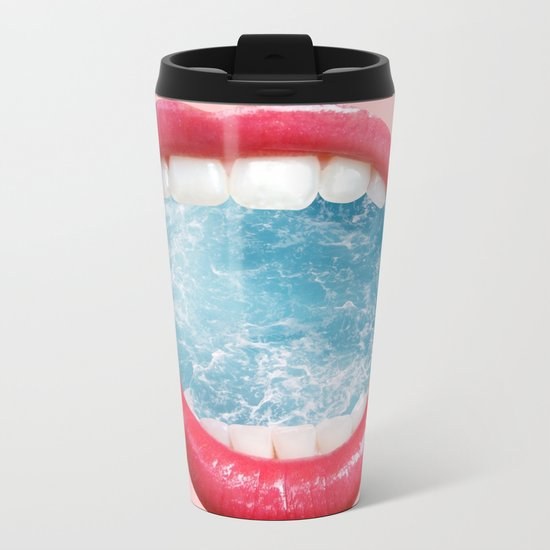 Live Breathe Ocean Metal Travel Mug