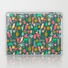 Tropical Vacation Island print pattern fun beach surf sand fun gift for trendy dorm room bright  Laptop & iPad Skin