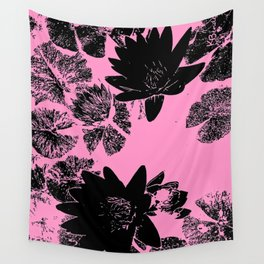 Waterlilies in Pink Wall Tapestry