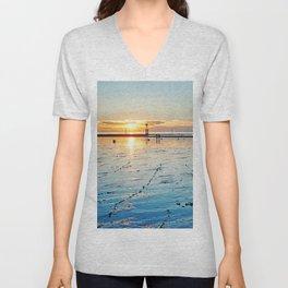 Sunset on the Horizon II Unisex V-Neck