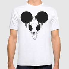 Mickey Mouse Skull Mens Fitted Tee Ash Grey SMALL