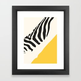 Zebra Abstract Framed Art Print