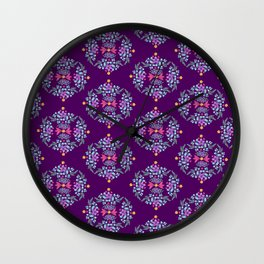 Royal Gardens (purple) Wall Clock