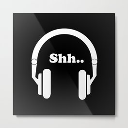 Headphones and music Metal Print