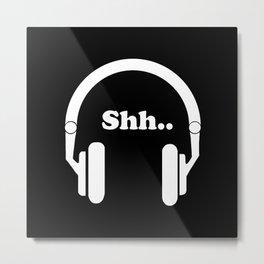 Headphones and music Metal Print