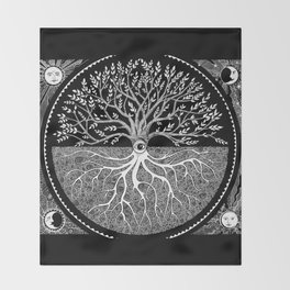 Druid Tree of Life Throw Blanket