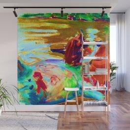 Akseli Gallen Kalella Skinning a Hippopotamus Wall Mural