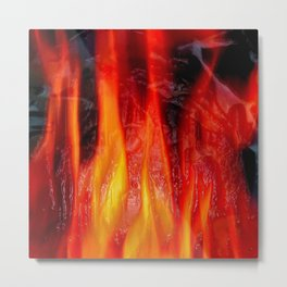 Embossed Flame Forms Metal Print