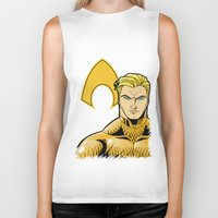 aquaman Biker Tanks featuring Aquaman by J. J.