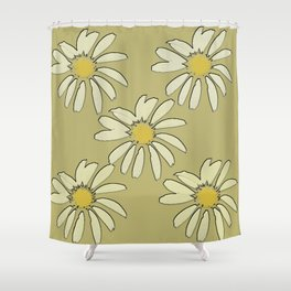 All About Daisies Shower Curtain