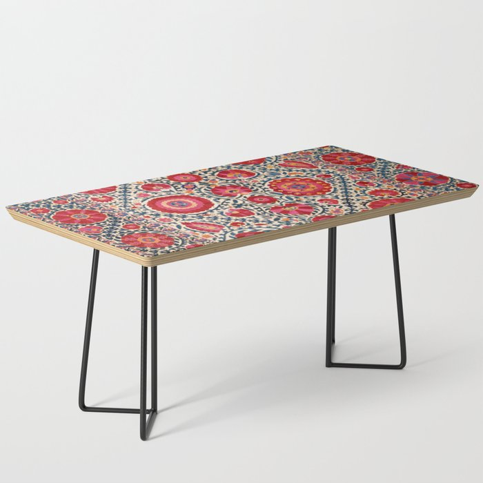 Kermina Suzani Uzbekistan Embroidery Print Coffee Table