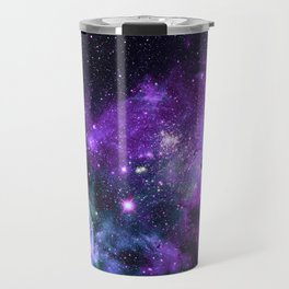 Purple Teal Green Carina Nebula Travel Mug