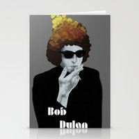 bob dylan Stationery Cards featuring Bob Dylan by Justin McElroy