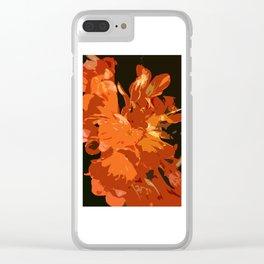 Orange Bush Lily Clear iPhone Case