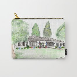 Merrick Rd, Custom watercolor Carry-All Pouch