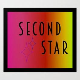 Second Star - Mermaid Art Print