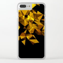 Gold Triangle pattern Clear iPhone Case