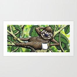 Good Morning Sloth Art Print