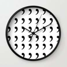 Oxford comma Enthusiast, Grammar Love, Writing, Writer Wall Clock