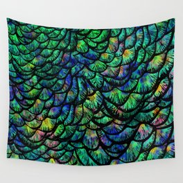Preening Peacock Classic Wall Tapestry