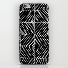 Black Diagonals Pattern iPhone Skin
