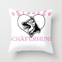 Proud shepherd dog mum for dog owners Throw Pillow