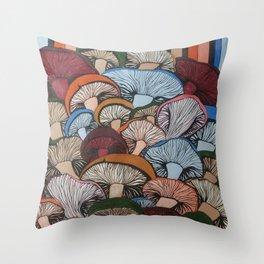 Colorful Mush Throw Pillow