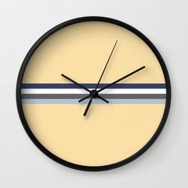 Minimal Abstract Grey Stripes On Beige - Drow Wall Clock