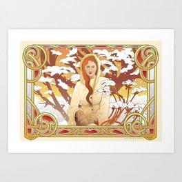 Water Nouveau Art Print
